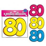 3 Stickers Décoratifs 80