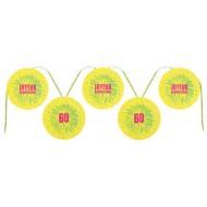 Banderole joyeux anniversaire jaune 60 ans