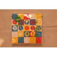 Serviette Papier Happy Birthday Red