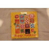 Serviette Papier Happy Birthday Jaune