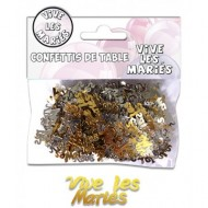 Confettis de Table Vive Les Mariés