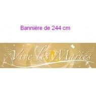 Bannière Vive les Mariés Or