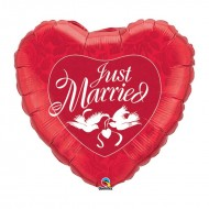 Ballon Métallique Coeur Just Married