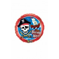 Ballon Aluminium Happy Birthday Bateau Pirate