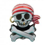 Ballon Aluminium Pirate Tête de Mort