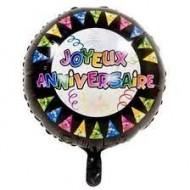 Ballon Métallisé Rond Joyeux Anniversaire