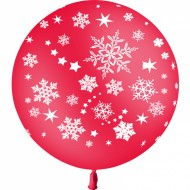 Ballon Latex Flocons de Neige