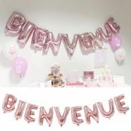 """9 Ballons Métallisés Lettres """"Bienvenue"""""""