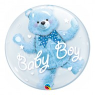 Ballon Double Bubble Ourson Baby Boy ou Girl