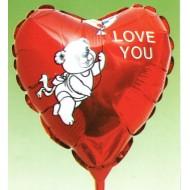 Ballon Métallisé Coeur I Love You