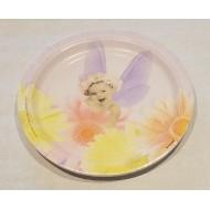 8 Assiettes Plates Carton Bébé Ailes Papillons