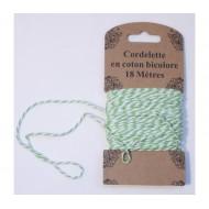 Cordelette en Coton Bicolore