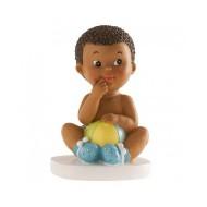Figurine Petit Garçon Métisse Assis
