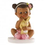 Figurine Petite Fille Métisse Assise