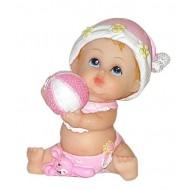 Figurine Bébé Fille avec Ballon
