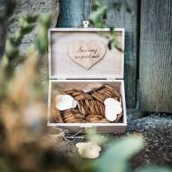 Livre d'Or Boite Bois Pour la Vie + 96 Coeurs Bois