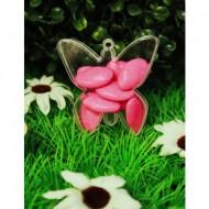 Boite Forme Papillon Plexi Transparente x4