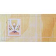 Etiquettes Communion Calice Jaune x12