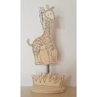 Porte Photo Girafe en Bois