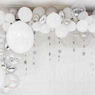 Kit Arche de 70 Ballons Argent